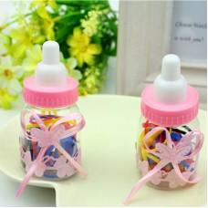 Резинки силиконовые для волос в кукольной бутылочке