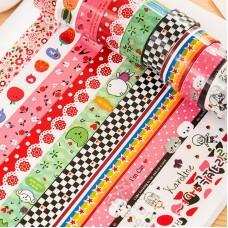 Скотч декоративный с разноцветными наклейками