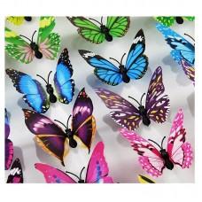 Набор 3Д бабочек 10 шт (в ассортименте)