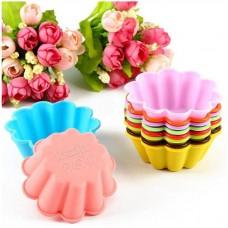 Набор силиконовых форм для кексов из 6 шт.
